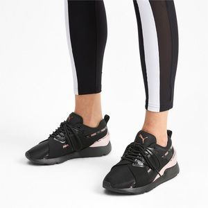 Puma Muse Metallic Lace Up Sneakers